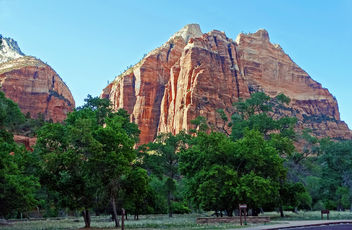 Red Cliff Sunset, Zion NP 2014 - image gratuit #446989