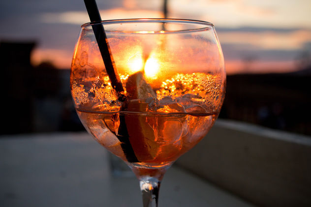 Aperol spritz cocktail in sunset - Free image #448429