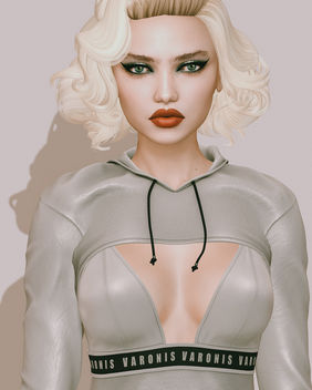 Honey Lips, Meow! Eyeshadow & Myst Eyes by Arte @ Powder Pack Catwa September 2017 - Free image #448699
