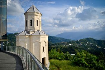 Beautiful landscape with chapel in Batumi - image #449619 gratis
