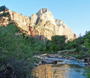 Virgin River Sunset in Zion NP 2014 - Free image #450779