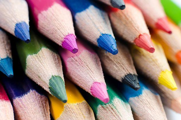 Macro Photo of Sharpened Colored Pencils - Kostenloses image #451869