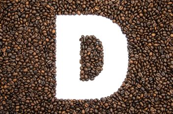 Alphabet of coffee beans - image #451889 gratis