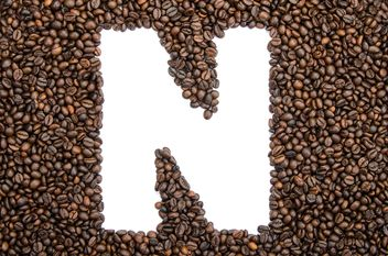 Alphabet of coffee beans - image gratuit #451909