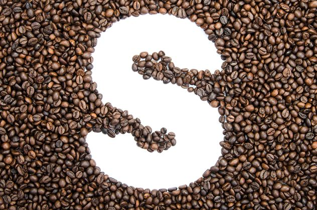 Alphabet of coffee beans - Free image #451919
