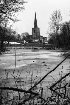 Frozen Lake, Attenborough, Nottingham - Free image #452319