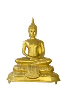 golden buddha on white background - image gratuit #452489