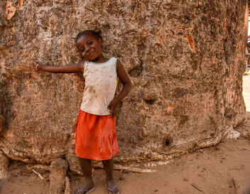 Girl and Baobab Base - бесплатный image #456629