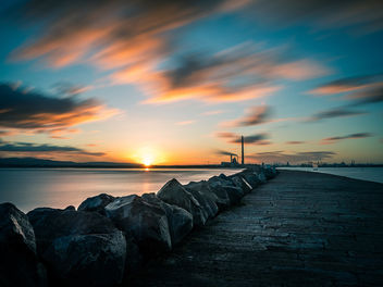 Sunset in Poolbeg - Dublin, Ireland - Seascape photography - Free image #456929