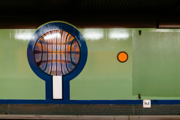 Ornament in Siemensdamm subway (U-Bahn) station in Berlin - image gratuit #459719