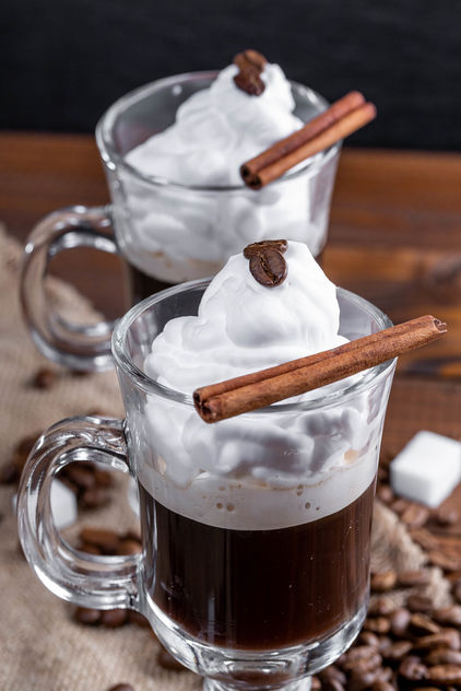 Coffee with whipped cream and cinnamon stic (Flip 2019) - image gratuit #460769