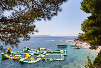 Bouncy castle in the Adriatic Sea of Bol, Croatia - Free image #463579