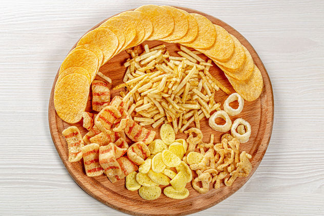 The Concept Of The Oktoberfest. A set of different snacks for beer. Top view - image gratuit #464119