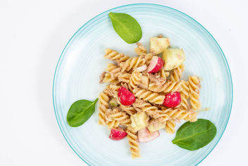 Healthy-meal-with-Pasta-and-Vegetables-with-Tuna-fish.jpg - Free image #464429