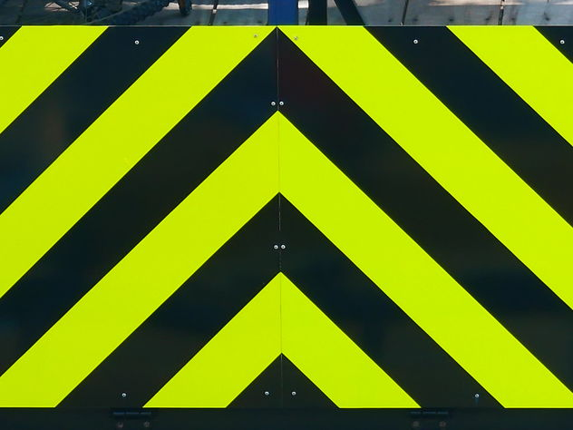 warning pattern from a maintenance truck - Free image #466739